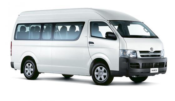 Transportation in Costa Rica - Toyota Hiace Mini-Van (10 passengers)