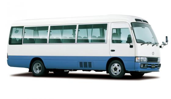 Transportation in Costa Rica - Toyota Coaster Bus (20 passengers)